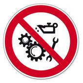 Prohibition signs BGV icon pictogram Lubricating oils prohibited