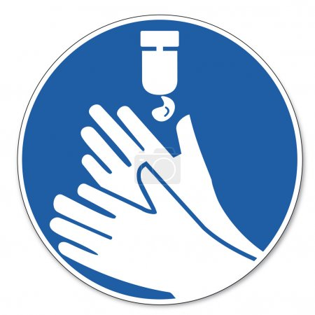 Disinfect your hands do not forget sign created on...