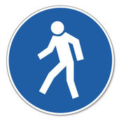 Commanded sign safety sign pictogram occupational safety sign for pedestrians