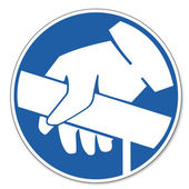 Commanded sign safety sign pictogram occupational safety sign Handrail use