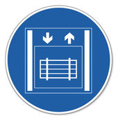 Přikázal znamení bezpečnostní znak piktogram bezpečnosti práce podepsat nákladní výtah