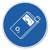 Commanded sign safety sign pictogram occupational safety sign Warner carry oxygen