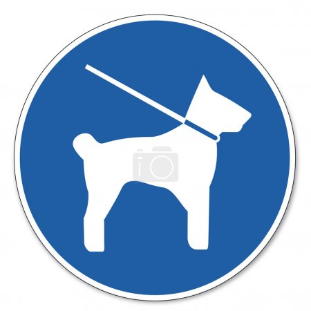 Commanded sign safety sign pictogram occupational safety sign lines forced dog