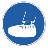 Befallde tecken säkerhet tecken piktogram arbetarskydd tecken trafik tecken på att bära skyddande