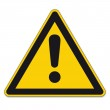Warning Signs Dangerous point exclamation mark on ...