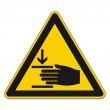 Warning Signs Warning hand injuries on White backg...