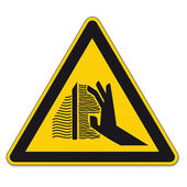 Safety signs warning triangle sign BGV hand vector pictogram icon burns