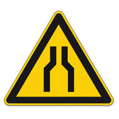Safety signs warning triangle sign vector pictogram BGV A8 Icon narrow street car