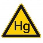 Warning mercury signs on White Background Created ...