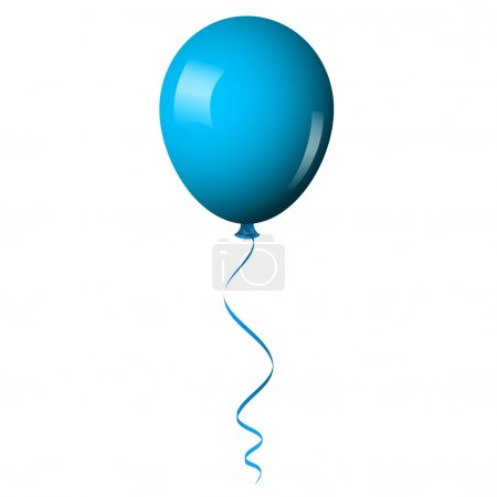 Illustration for Vector illustration of blue shiny balloon - Royalty Free Image