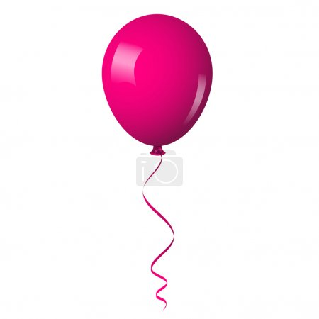 Illustration for Vector illustration of pink shiny balloon - Royalty Free Image