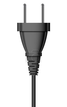 Illustration pour Illustration vectorielle de fiche électrique - image libre de droit