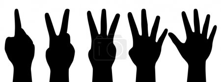 Illustration for Vector illustration of counting hands - Royalty Free Image