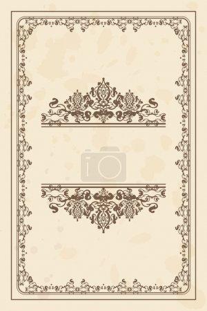 Vector vintage parchment frame