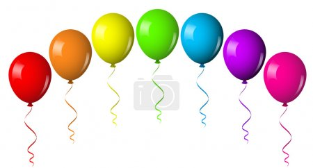 Illustration for Vector illustration of balloon arch - Royalty Free Image