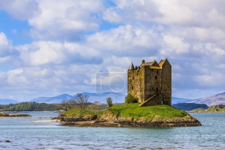 Medieval castle on a island in the water