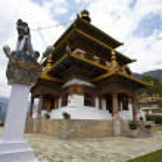 Постер, плакат: KHAMSUM YUELLEY NAMGYAL CHORTEN IN PUNAKHA BHUTAN