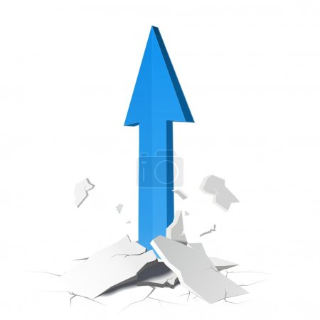 Illustration for Success concept with up arrow - Royalty Free Image