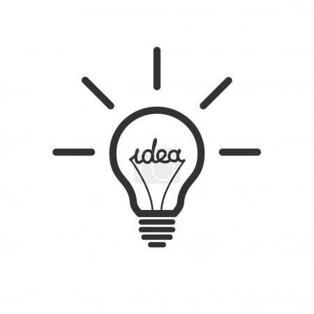 Illustration for Creative idea in bulb shape as inspiration concept. Vector design element. - Royalty Free Image