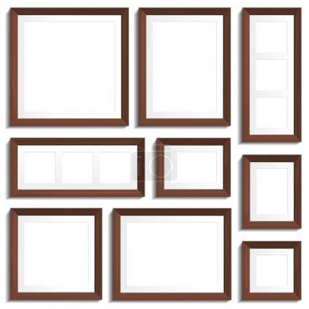 Wenge frames set