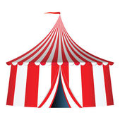 Circus tent with flag vector illustration