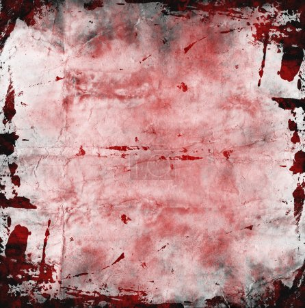 Photo for Red grunge background with spots of blood - Royalty Free Image