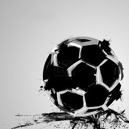 Soccer grunge ball