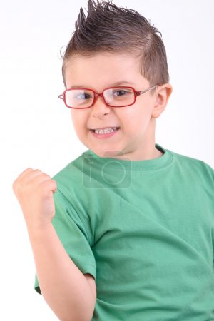 Photo for Studio portrait of a kid celebrating a victory with confidence - Royalty Free Image