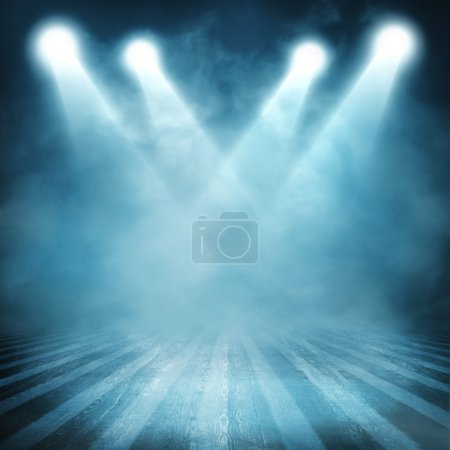 Photo for Background in show. Interior shined with a projector - Royalty Free Image