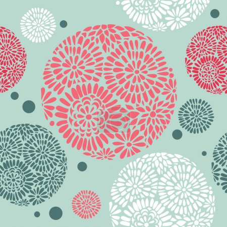 Illustration for Retro floral seamless background - Royalty Free Image