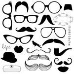 Sunglasses, lips, mustaches...