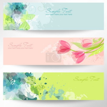 Illustration for Set of three banners - Royalty Free Image