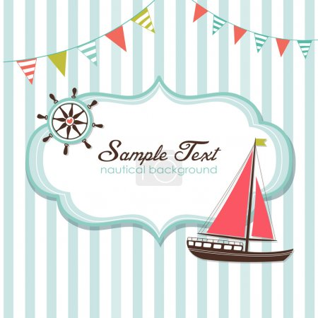 Illustration for Summer is here! Nautical card - Royalty Free Image