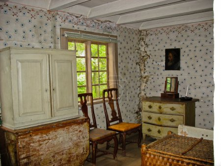 Detail of a room in Skansen's palace, near Stockho...
