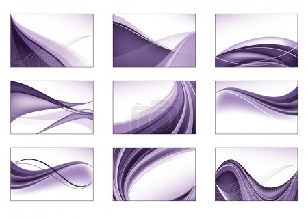 Illustration for Abstract Vector Background Set. - Royalty Free Image