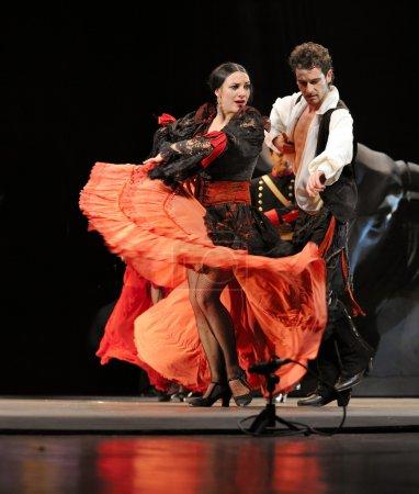 """Photo pour La danse flamenco Drame """"Carmen"""" interprété par la troupe de ballet espagnole Rafael Aguilar au théâtre JINCHENG DEC 28, 2008 à Chengdu, Chine . - image libre de droit"""