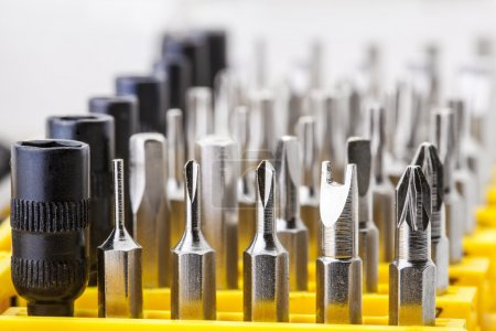 Photo for Precision Screwdriver Bit Set, on white background - Royalty Free Image