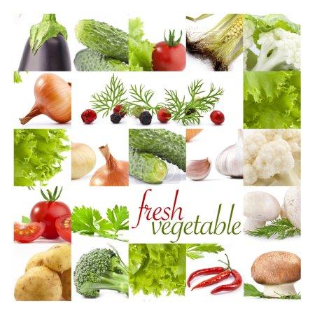 Photo pour Collection de légumes, arrière-plan - image libre de droit
