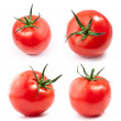 Tomatoes with a light shadows, isolated on white b...