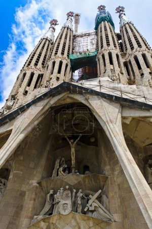 BARCELONA, SPAIN - JULY 13: La Sagrada Familia - t...