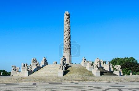 Photo pour OSLO, NORVÈGE - 21 JUIN : Le Frogner Park contient le célèbre Vigeland Sculpture Park (Vigelandsanlegget) conçu par Gustav Vigeland, Oslo, Norvège, le 21 juin 2012 - image libre de droit