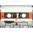 Cassette tape isolated on white with clipping path...