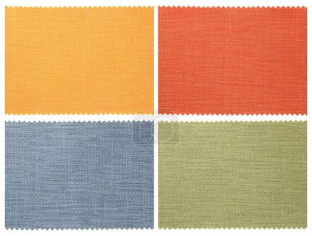 Photo for Set of fabric swatch samples texture - Royalty Free Image