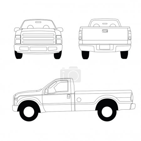 Pick-up truck blueprint