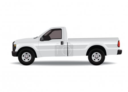Pick-up truck small isolated on white