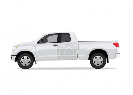 Pick-up truck isolated
