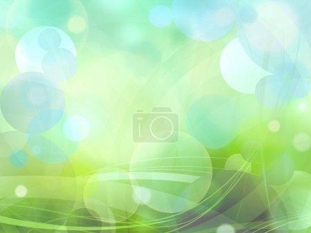 Photo pour Bokeh cercles de lumière sur fond vert illustration - image libre de droit