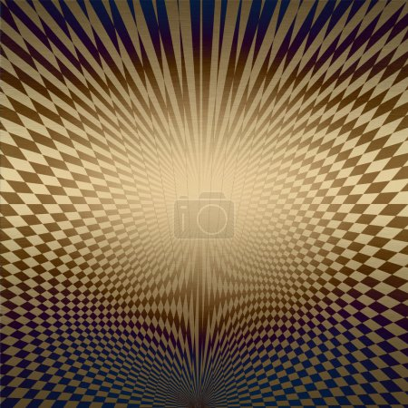 Gold metal background with abstract pattern