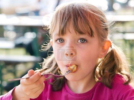 Eating little girl