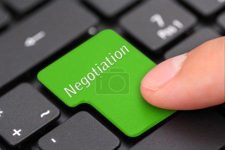 Photo pour La négociation - image libre de droit